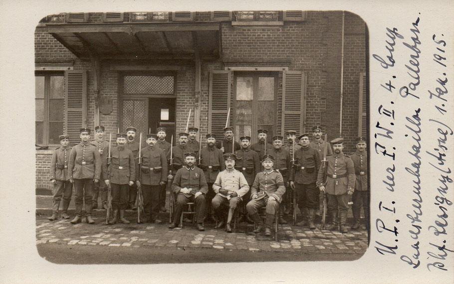 Des Allemands à Résigny