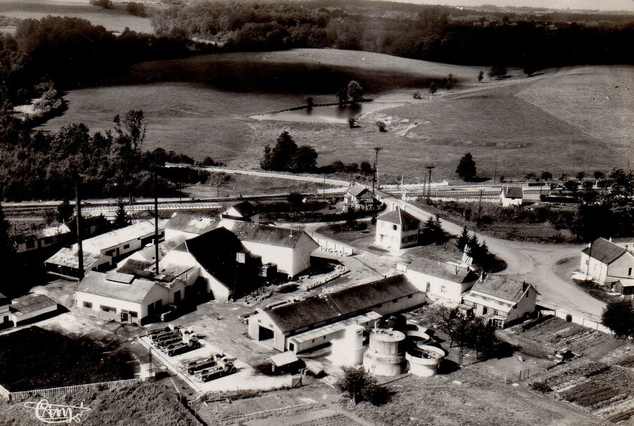 La laiterie de Résigny vue d'avion