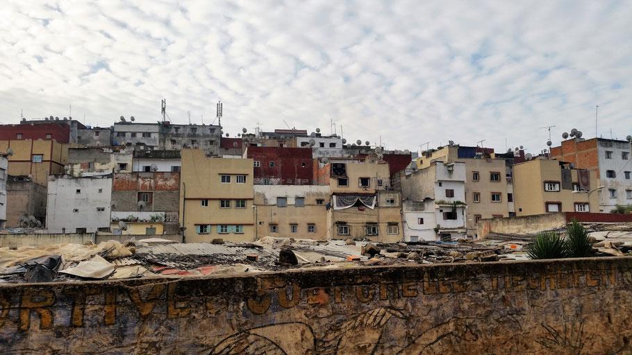 Das ist der Ausblick meiner Unterkunft in Rabat