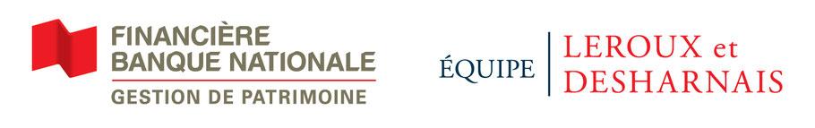 Logo Financière Banque Nationale Gestion de Patrimoine par l'Équipe Leroux et Desharnais