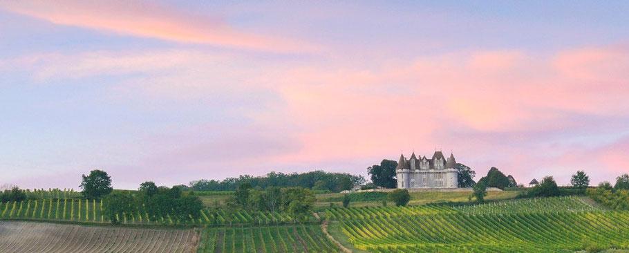 Château de Monbazillac et son écrin de vignes