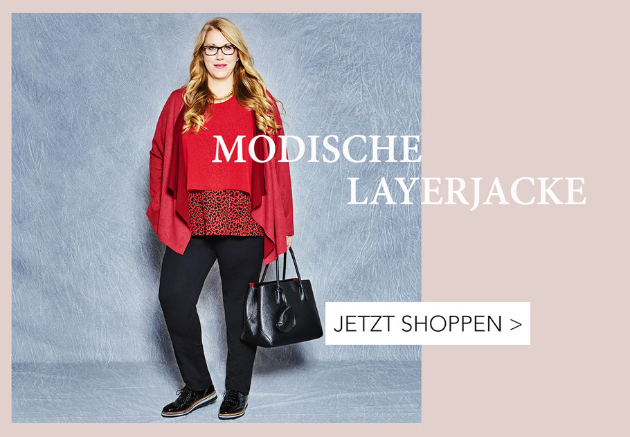 rote Layerjacke kaschierende Mode