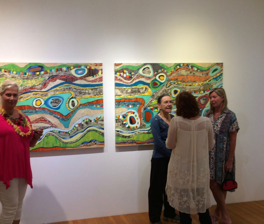 """Being selected at the annual Hui No'eau Visual Arts Center Juried show was quite an honor! Jan 7, 2017 - Feb 16, 2017  Title: """"A drop in the ocean, 1 & 2"""""""