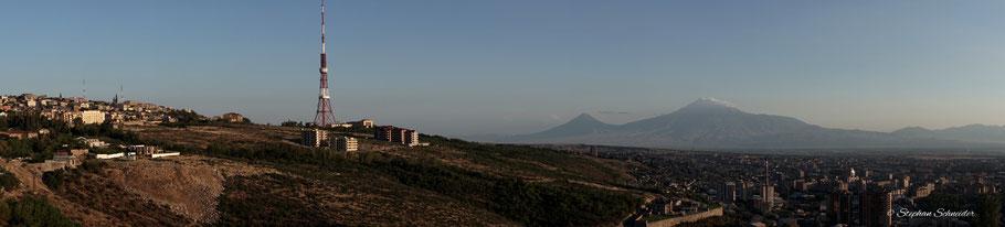 Aussicht aus dem Hotelzimmer in Richtung  Ararat
