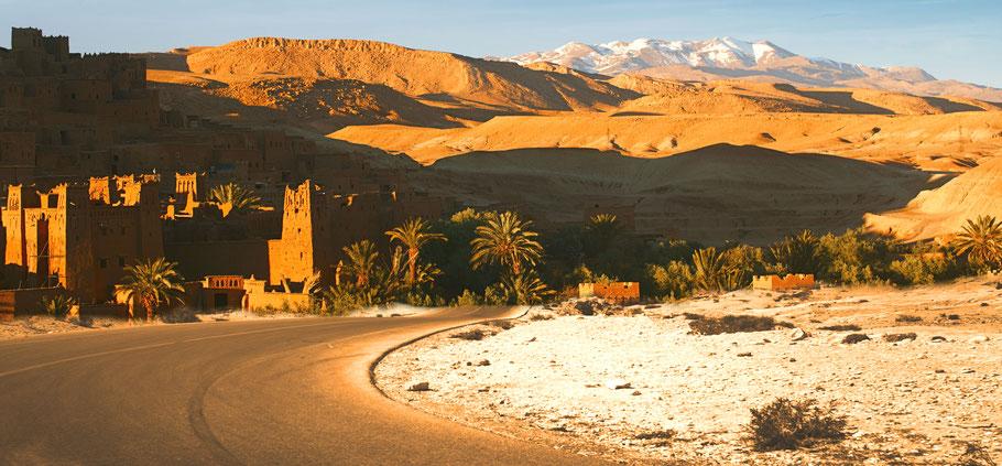 Motorradreise: Fahrstrecke von Boumalne Dades nach Ouarzazate