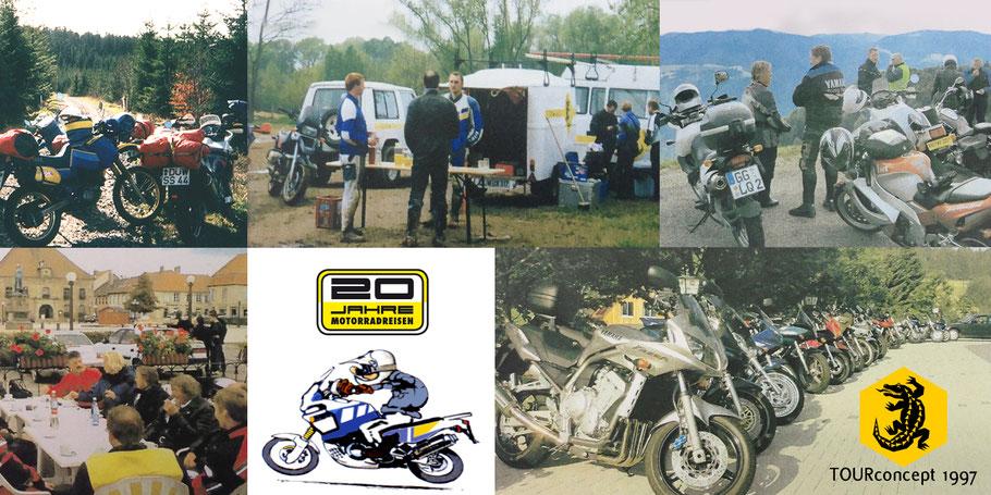 Motorradgruppen unterwegs in den Vogesen, Lothringen, Elsass, Luxemburg