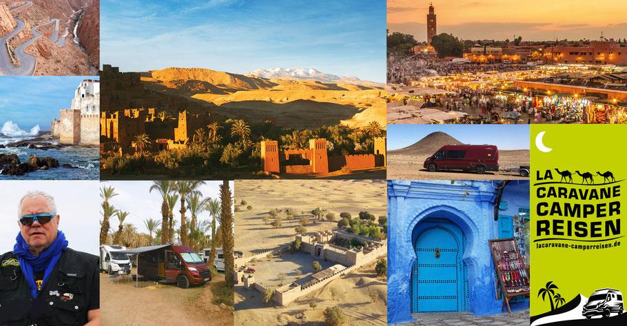 Blaue Stadt Chefchaouen, Fès, Sahara, Straße der Kasbahs, Ait Ben Haddou, Marrakesch, Essaouira, Atlantikküste