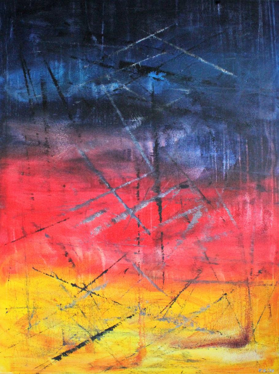 Engelsender / Acryl auf Leinwand / 160 x 120 cm
