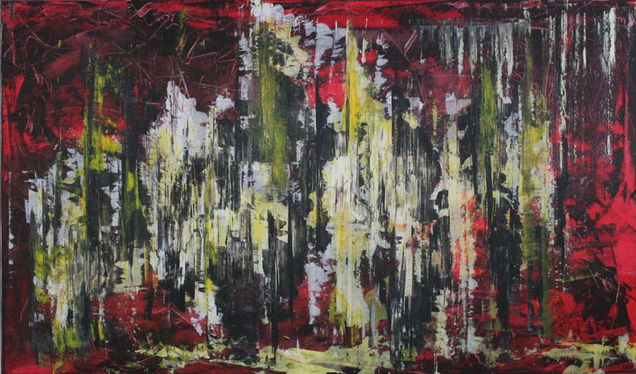 Frequenz / Acryl auf Leinwand / 130 x 220 cm