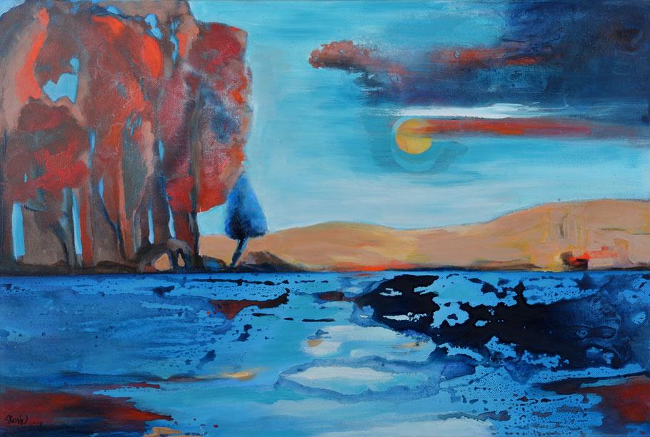 Spiegelungen / Acryl auf Leinwand / 80 x 120 cm