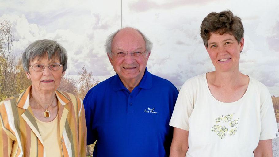 Bleiben an der Spitze des Kulturvereins: Vorsitzender Johannes Schneider, Stellvertreterin Irene Lühdorff (l.) und Schatzmeisterin Ann-Kristin Schäcke