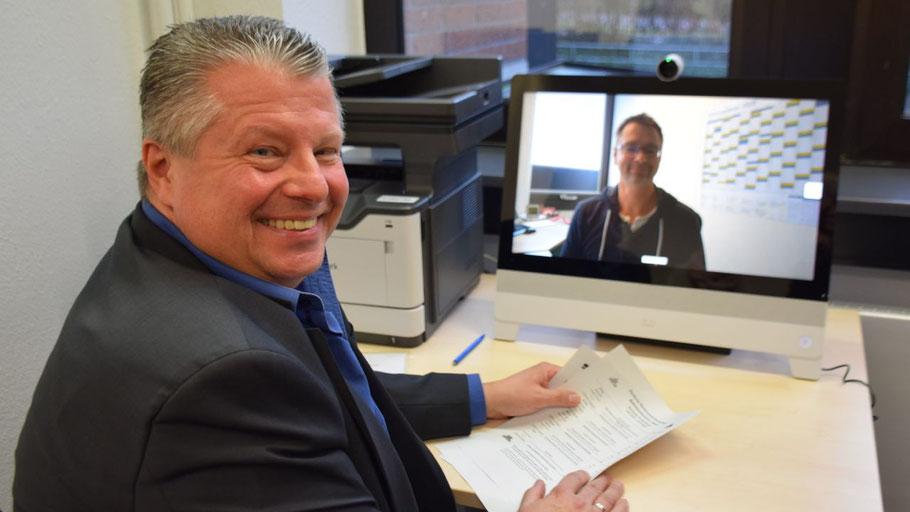 Rentenberater Bernd Staud hatte im Januar die Rentenberatung per Video in Quickborn vorgestellt.