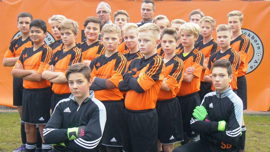 Die C-Jugend-Fußballer des 1. FC Quickborn zeigen ein großes Herz.