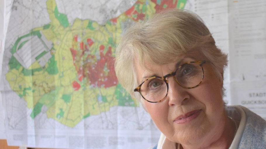 Herrscherin über die Pläne: Friederike Lattmann, Leiterin des Fachbereichs Stadtentwicklung und Umwelt.