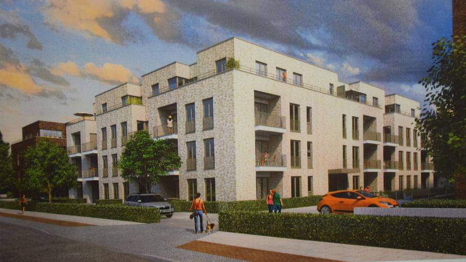 Für diese geplanten Mehrfamilienhäuser soll nach dem Willen des Ausschusses für Stadtentwicklung eine Parkplatzquote von 1,0 gelten.