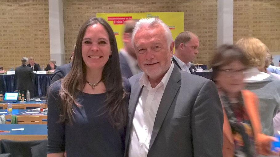 Annabell Krämer freut sich, gemeinsam mit Wolfgang Kubicki in den Landtagswahlkampf zu ziehen.