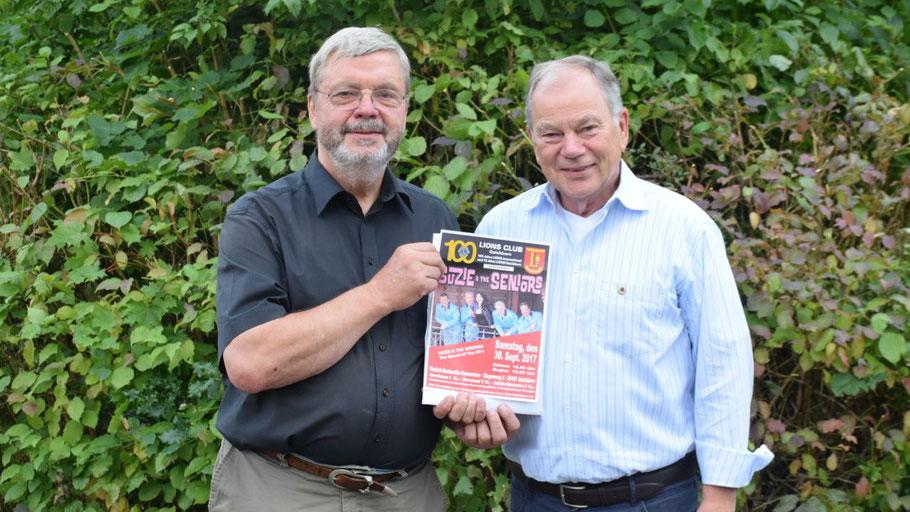 Lions-Präsident Stefan T. Böhme und Pressesprecher Bernd Harnack stellten das Konzert vor