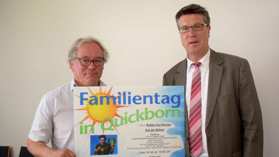 Musikschulleiter Lorenz Jensen und Fachbereichsleiter Carsten Möller stellten das Programm des Familientages vor
