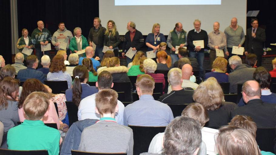 Gut besucht war der Artur-Grenz-Saal zum Tag des Ehrenamtes, den Nicole Münster organisiert hatte.