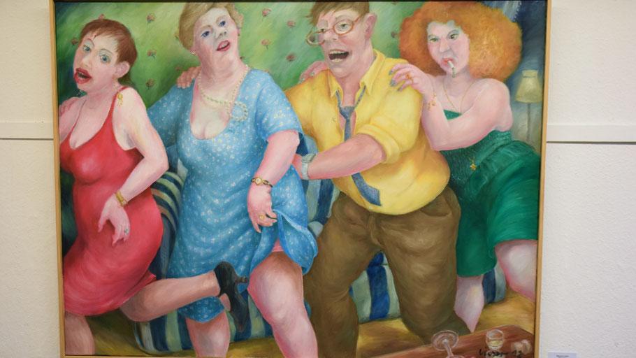 In Margret Liesers liebevoll gemalten Ölbildern sehen wir, wie komisch es in unserem Leben zugeht, wenn wir genauer hinschauen.