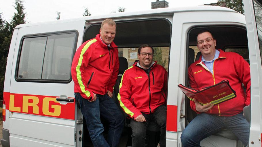 Kai Jacobsen, Jan-Christian Paar und Marvin de Vries bilden das neue Führungs-Trio der DLRG Quickborn (v.l.)