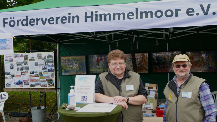 Einer der ersten öffentlichen Auftritte für den neuen Vorsitzenden des Fördervereins Himmelmoor: Jürgen Strötzel mit dem Urgestein Theodor Hildebrecht.