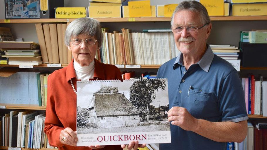 Irene Lühdorff und Rudolf Timm haben den Kalender aus dem umfangreichen Material der Geschichtswerkstatt zusammengestellt