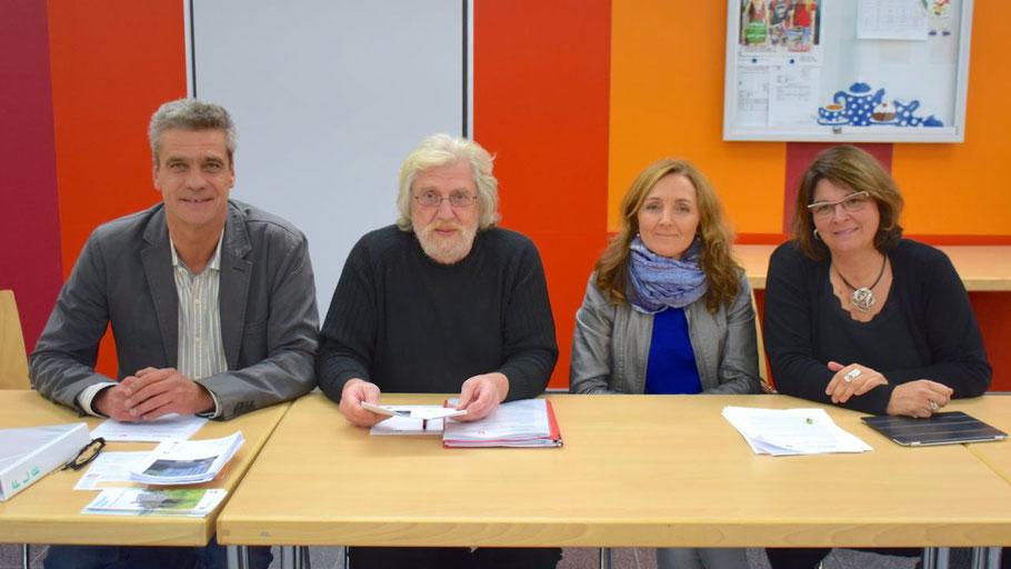 Vertraten die Flüchtlingsbetreuer: Christian Rohde, Norbert Schmitz, Andja Zdravaac-Vojnovic und Monika Bagger-Wulf