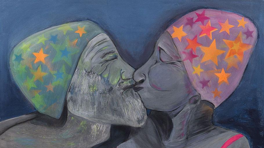 """Das Bild """"Zweisamkeit"""" von Petra Keßler ist eines der ausgestellten Werke"""