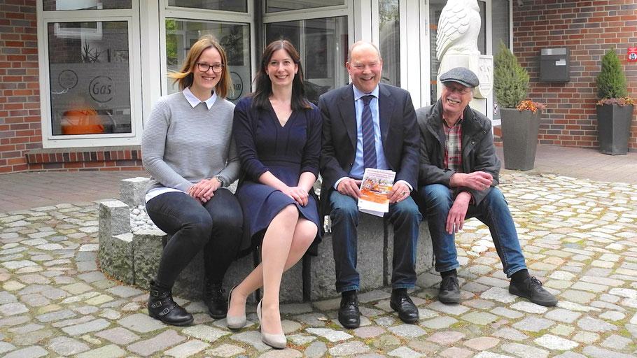 Präsentierten das Event: Vivian Singer und Jeannine Müller (Stadtwerke) sowie Wolfgang Korndörfer und Harald Maniezki (Energieforum)
