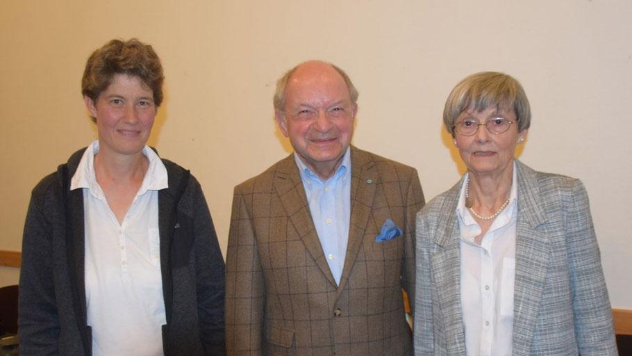 Haben sich viel vorgenommen: Johannes Schneider (1. Vorsitzender), Irene Lühdorff (2. Vorsitzende, r.) und Ann Kristin Schäcke (Schatzmeisterin).
