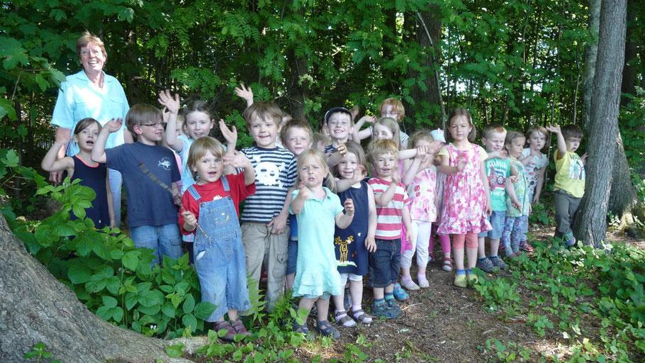Die Kinder der Tagesstätte freuen sich auf das Jubiläum.
