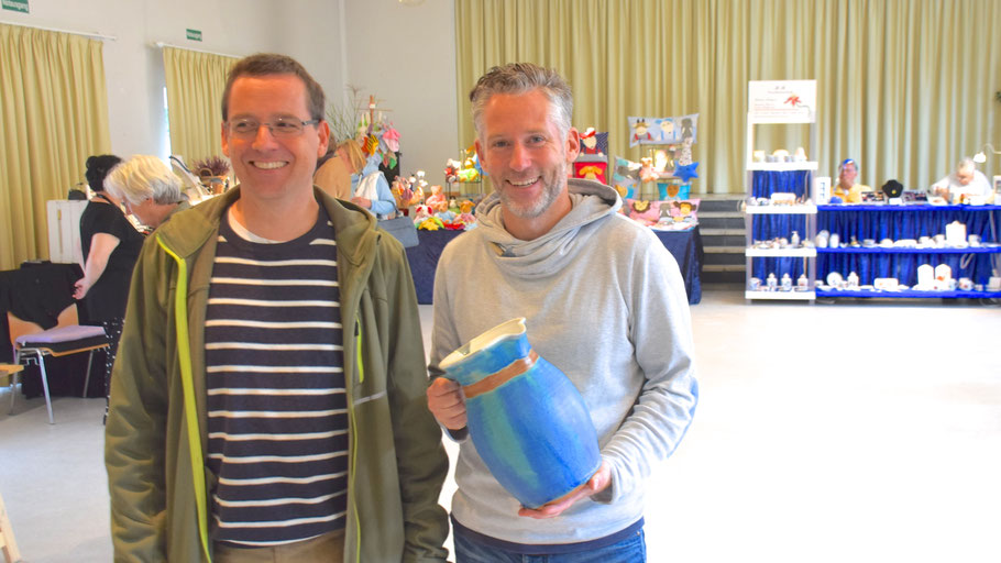 Freuten sich über den guten Start: die Organisatoren Michael Schmult und Philipp Wirtz