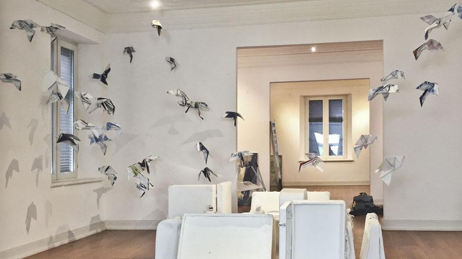 Mit dieser Installation in der Quickborner VR-Galerie erfreute Lösekann vor einigen Monaten die Kunstfreude.