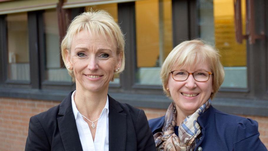 Claudia Kunze (l.) übernimmt die Aufgaben von Cathrin Stank
