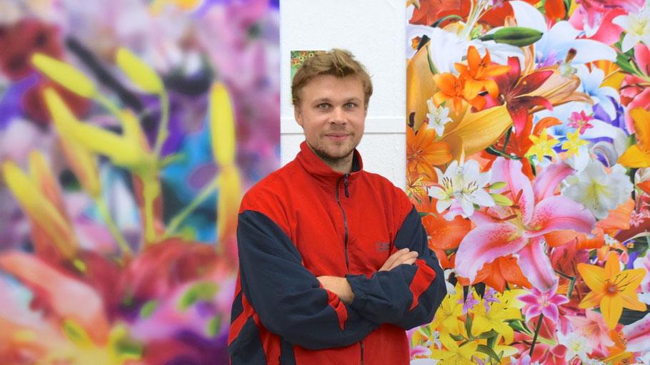 Lukas Krämer zeigt seine großformatigen Arbeit im Quickborner Kunstverein