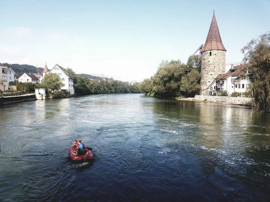 Holzbrücke Bremgarten mit Hexenturm und Reuss