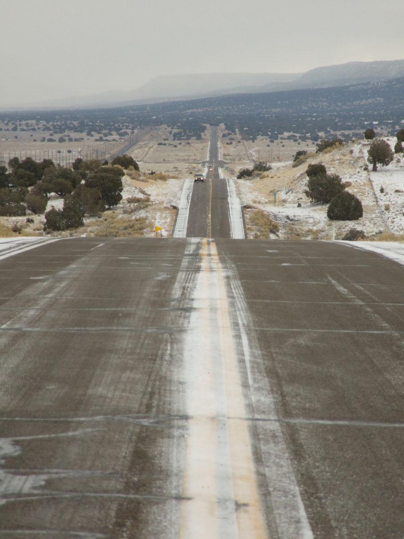 US 160; auf der Fahrt von Page, AZ nach Kayenta, AZ