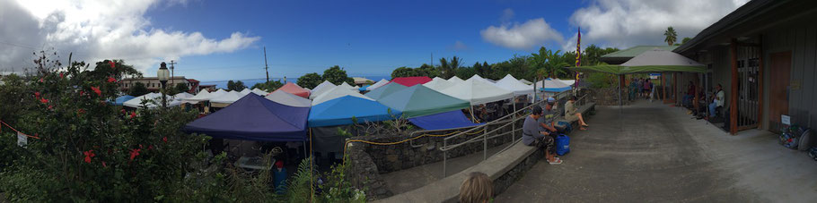 Pure Kona Green Market Amy Greenwell Garden visitor center carpark Hawaii