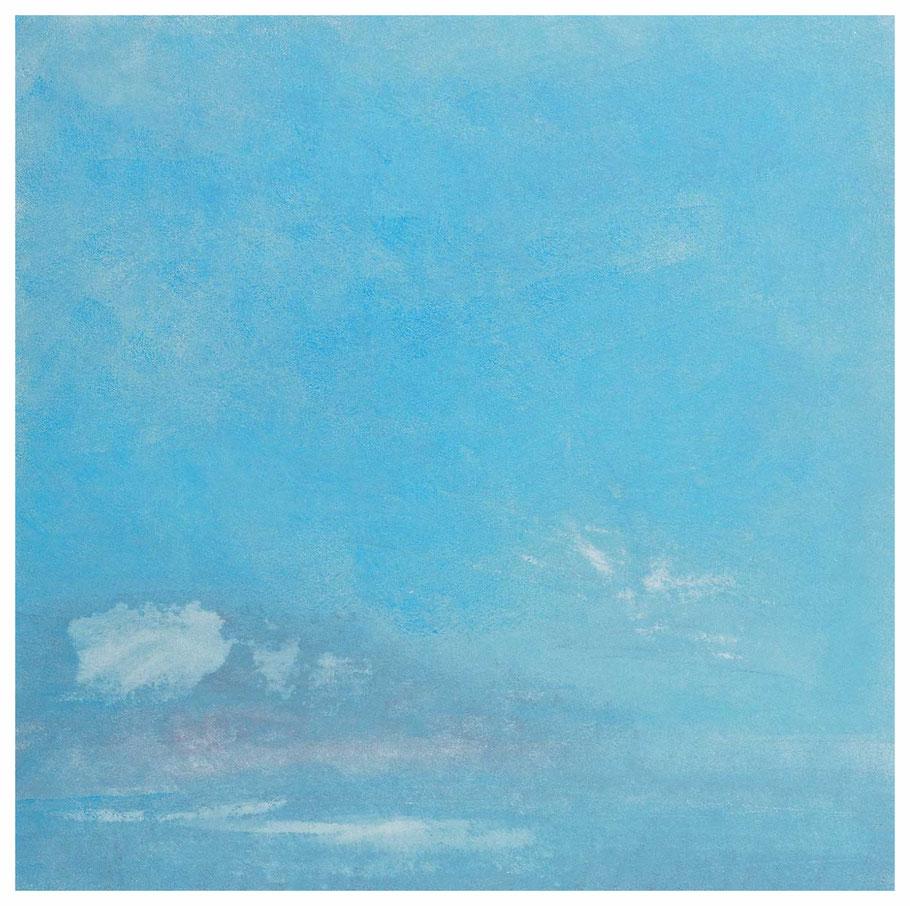 Die blaue Stunde, Verkauft, 87 x 87 cm, Copyright by Martin Uebele