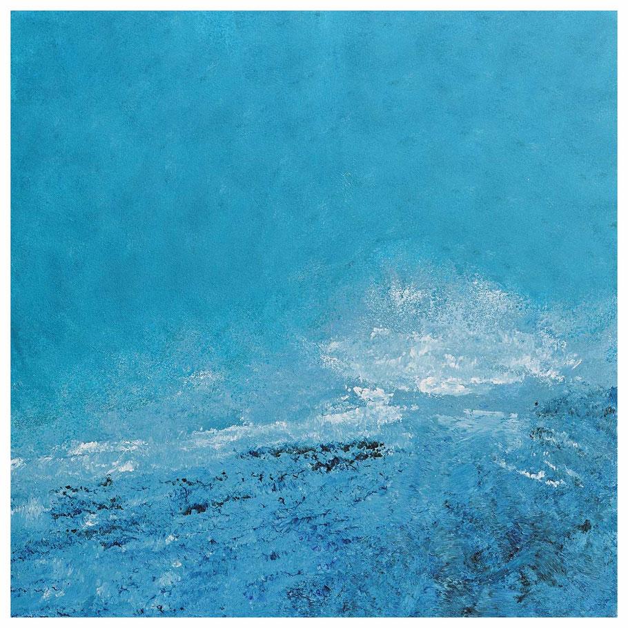 Die Welle, 87 x 87 cm, verkauft, Copyright by Martin Uebele