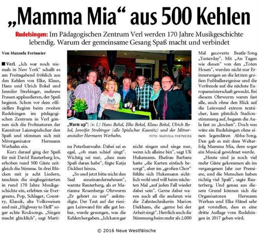 Die Zeitung Die Glocke berichtet auch über unserern Auftritt beim ...