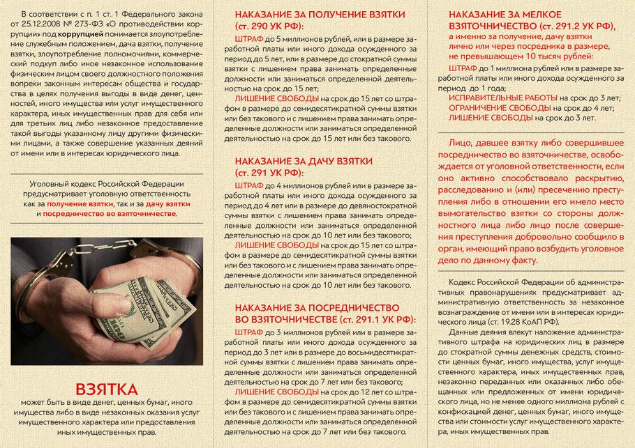 Памятка - Что нужно знать о коррупции