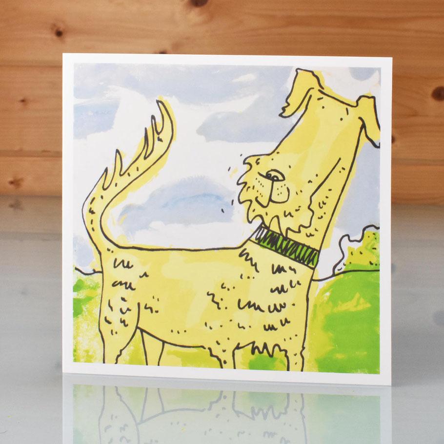irish terrier art card