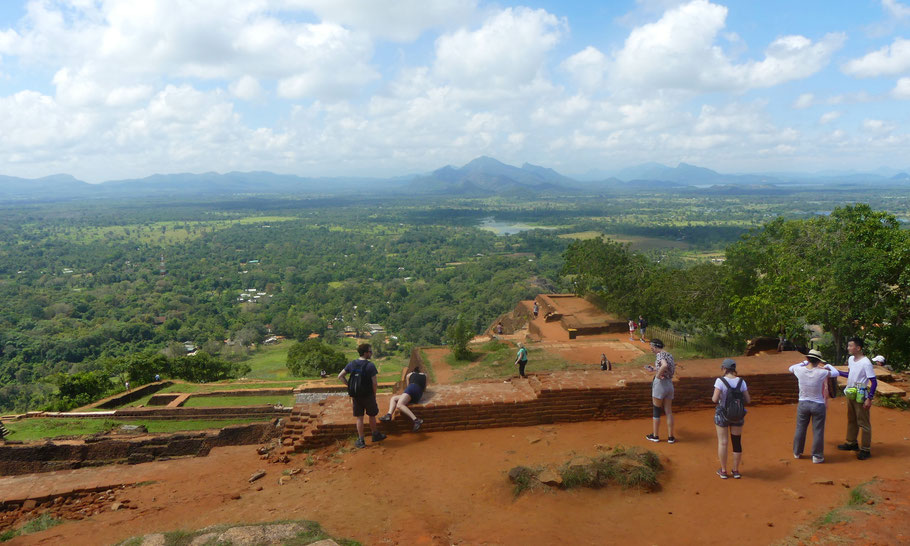 les hauteurs de Sigiriya