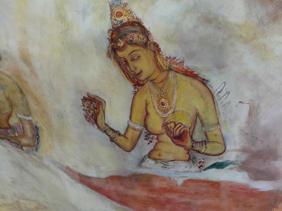 L'une des demoiselles de Sigirîya