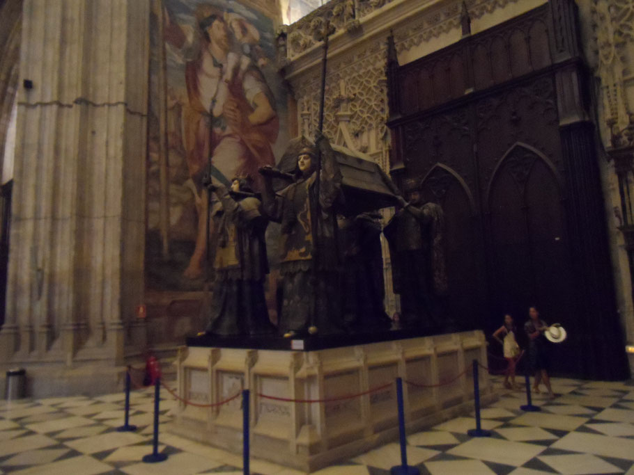 Tombeau de Chistophe Colomb, Cathédrale de Séville.