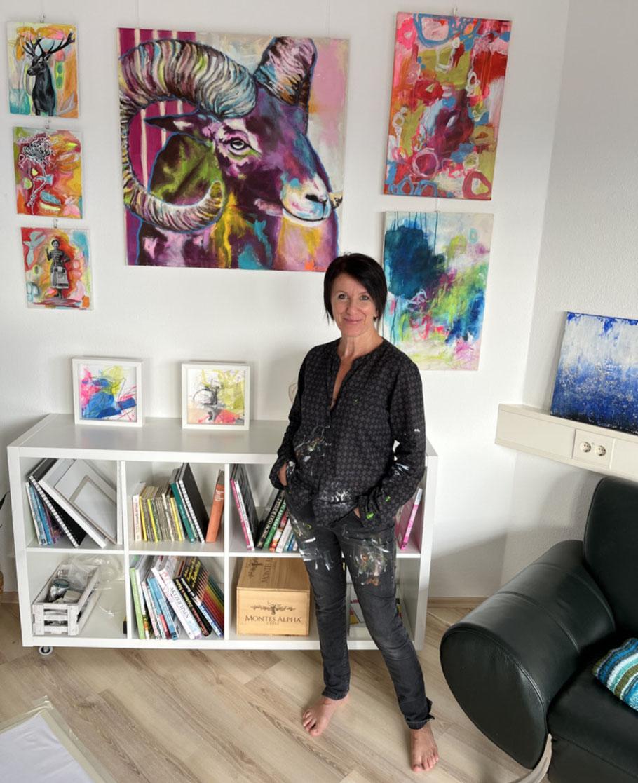 Kunst, Bilder, Acryl, Atelier, Christiane Reisert