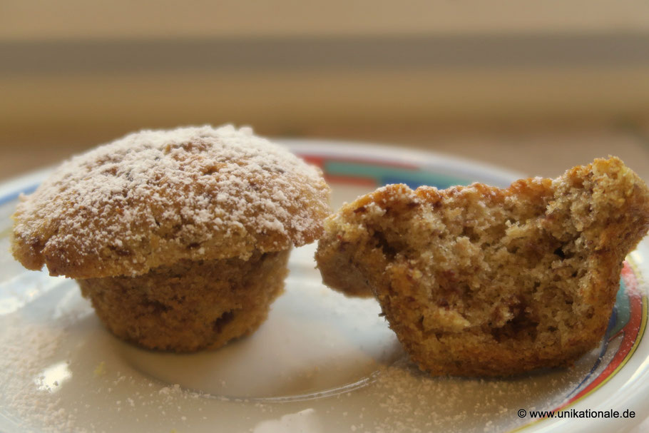 Vanille-Vollkorn Mini-Muffins