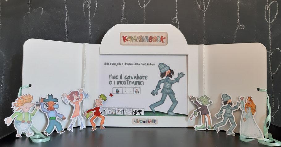 Kamishibai  fiaba sui mostri e principesse coraggiose  libro racconti valigia vendita teatrino burattino caa comunicazione aumentativa e alternativa teatro delle ombre cos'è